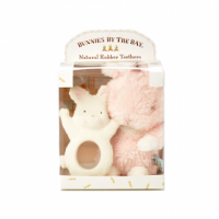 Bunny Teether and Wittle Soft Bunny  Easter Gift or Baby Present