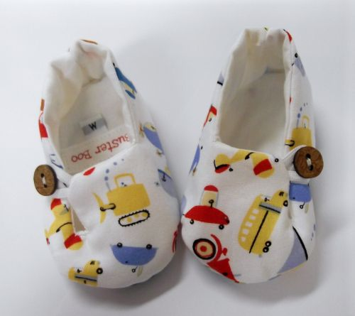 Buster Boo - Zoom Zoom Fabric Baby Shoes