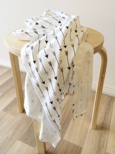 Buster Boo Organic Swaddle Blanket /Wrap - Black Arrows