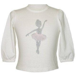 Long Sleeve Ballerina Tee (Size 0 to 2) by Candy Stripes