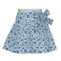 Candy Stripes - Blue Floral Skirt (only sizes 0 left)