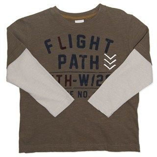 Flight Path Long Sleeve Tee (sizes 2 to 6)  by Candy Stripes