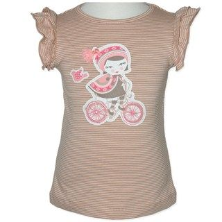 Bike Girl Tee (Only Size 3 left) by Candy Stripes