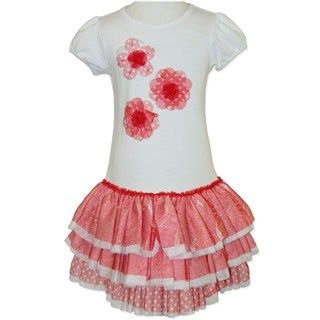 Red Flower Tutu Dress (Only size 3 left)