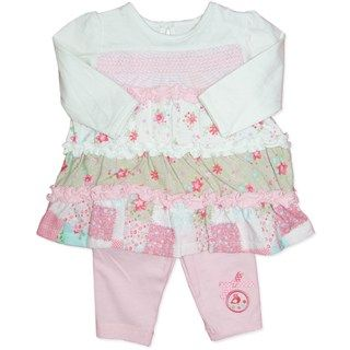 Bird and Frill Top and Pants Two Piece Outfit (size 1) by Candy Stripes
