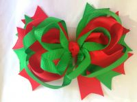 Large Multi Layer Christmas Bow/Hairclip