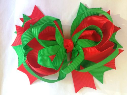 Large Multi Layer Christmas Bow