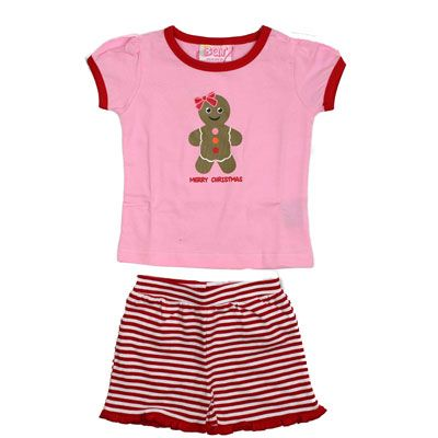 Christmas PJs Gingerbread Man -2 piece set (Only size 1 left)
