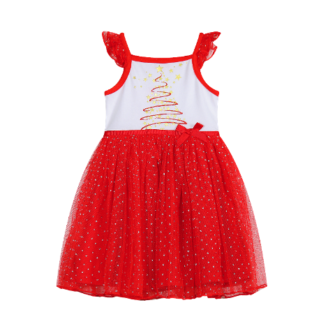 Christmas Tree Layered Dress - Christmas Outfit (Sizes 0 to 2)
