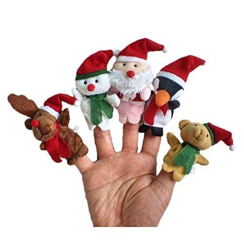 Christmas Finger Puppets - Pack of 5
