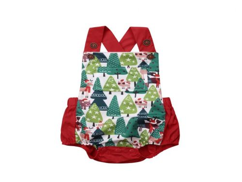 Christmas Forest Baby Christmas Overall type Outfit