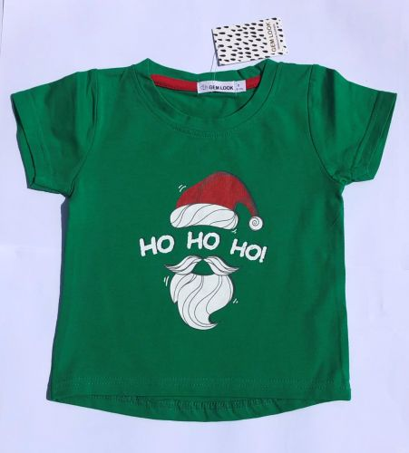 Ho Ho Ho Baby or Junior Christmas Tee  (sizes 0 to 7)