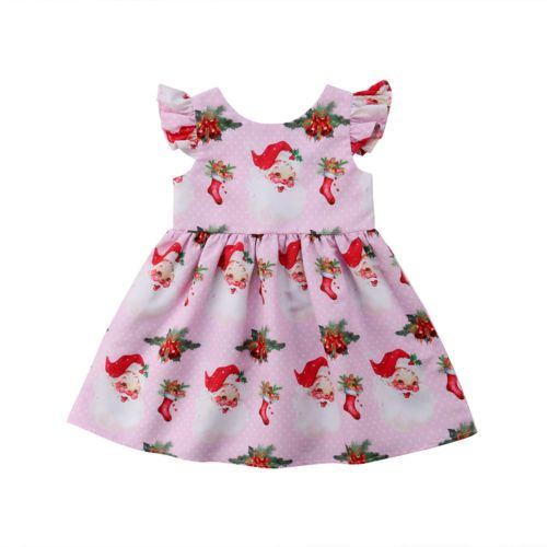 Lovely Pink Santa Dress (3 to 5 years)