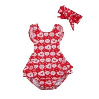 Red Reindeer Frilly Christmas Romper & Headband