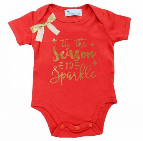 T'is the Season to Sparkle- Christmas Bodysuit - Baby Christmas Outfit (6-12 months)