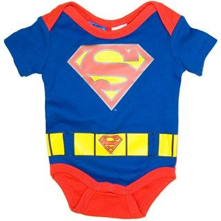 Superman Baby Short sleeve Costume Bodysuit/Onsie
