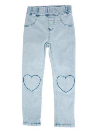 Curious Wonderland Heart Patch Denim Jeans (Size 7)