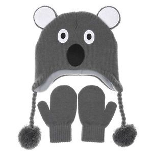 Kool Koala Beanie/Hat and Mittens Set