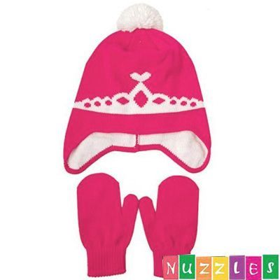 Princess Beanie/Hat and Mittens Set