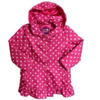 Pink Spot Water Resistant Light Coat