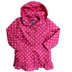 Pink Spot Water Resistant Light Coat