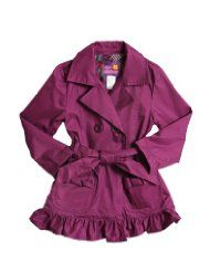 Girls Pink Trench Coat - Water Resistant (only Size 3-4 left)