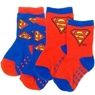 Superman  Baby Socks - 2 Pair Pack (size 1-3 last pair left)
