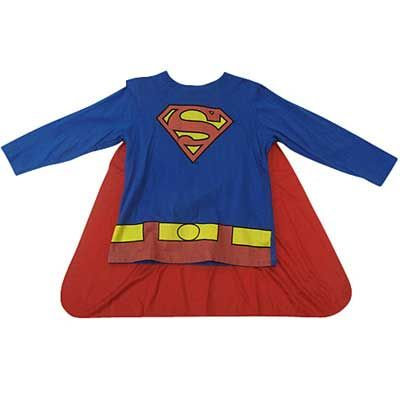 Superman Long Sleeve Shirt with Cape