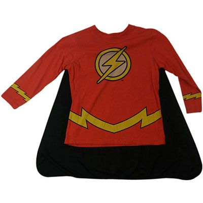 The Flash - Long Sleeve Shirt with Cape  (Last Size Left 4)