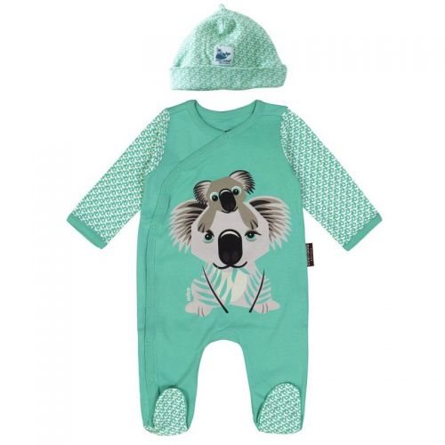 Organic Cotton - Mibo Koala Pyjamas with hat (Size 9 to 12 months)