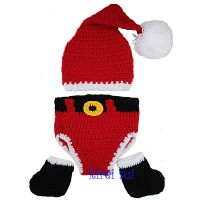Crochet Santa Outfit Nappy Cover, Hat  & Booties (0-4 months)