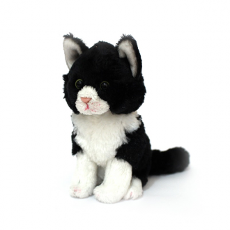 Milla Jnr Sitting Black and White Cat (15cm)