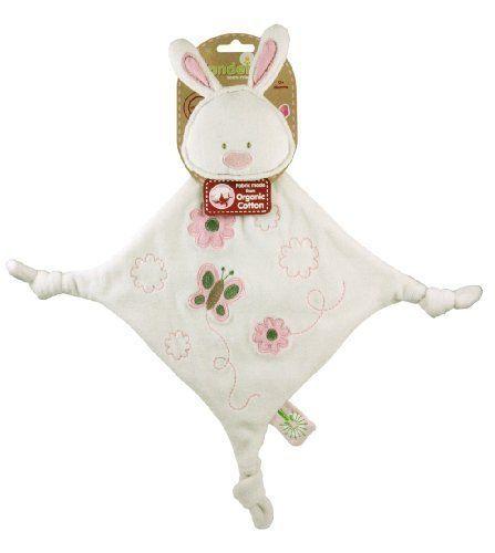 Organic Cotton Dandelion Bunny Comforter - Baby Blankie Soother