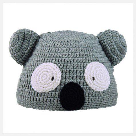 Hand Crochet Koala Beanie Hat - Bamboo Viscose