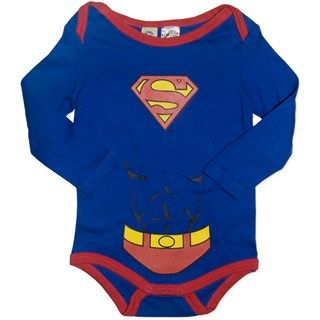 Superman  Baby Long Sleeve Bodysuit/Costume