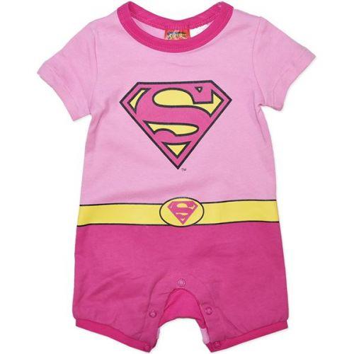 Super Girl Pink Romper