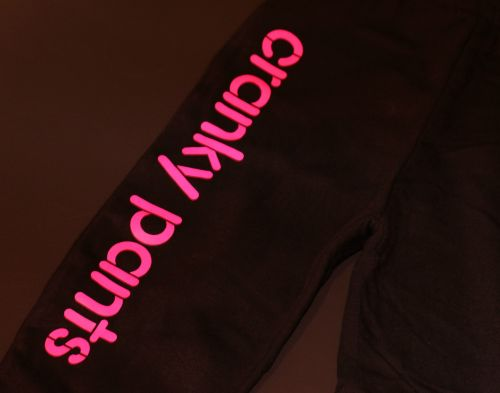 Cranky Pants - Black with Pink (Sizes 2 to 7)