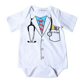 Doctor Bodysuit /Onsie (only size 3 mths left)