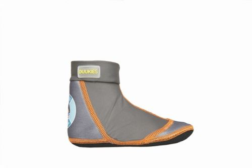 Duukies Beach Socks - Marius (Grey and Orange)