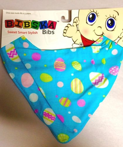 Bibska Bib - Easter Eggs - Limited Edition - Great for Easter - Dribble/Bandana Bib