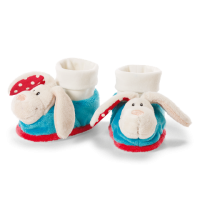Bunny Booties with Rattle