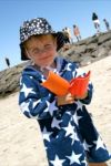 Swim Towelling Cover Up - 100% Bamboo/Organic - Navy Star (Last size left 6-12mths)
