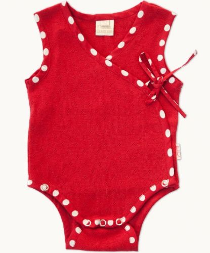 Eternal Creation - Red Diamond Tie Romper (size 9 to 18 months)