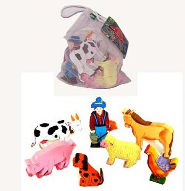 Farmyard Animals Play Bag - Artiwood