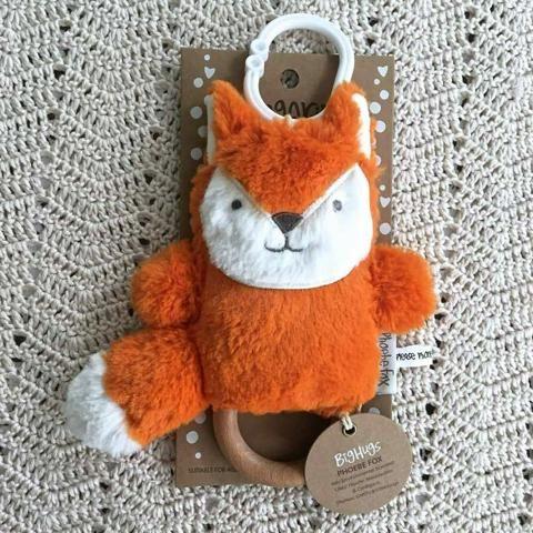 Phoebe Fox Dingaring Teething Toy Rattle (Fox)