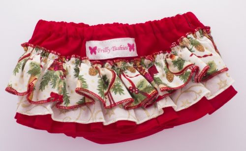 Frilly Tushies - Holly Christmas Nappy Cover (Only Size 00 left)