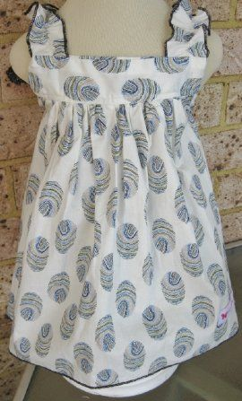 Dress - Blue Swirl by Frilly Tushies (Size 0 only left)