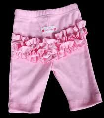 Frilly Tushies - Ruffle Leggings 3/4 - Pink (last pair 00 only)