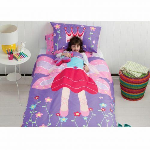 Cubby House Kids Garden Fairy Quilt Cover Set - Double