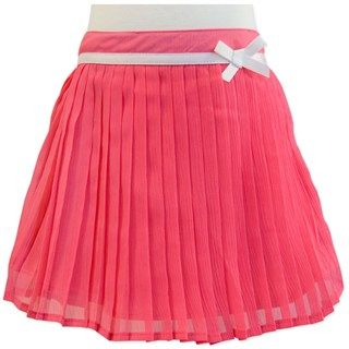 Sweet Coral Pink Flowy Pleated Skirt (Sizes 3,4,5)  by Candy Stripes